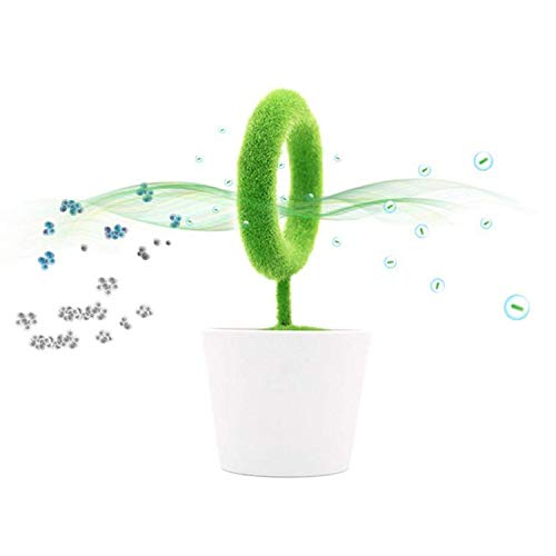 EPSS Pflanzen-Luftreiniger für den Schreibtisch entfernt Partikel in der Luft Rauch, Schadstoffallergen Staub Pollen PM2.5 für Asthma-Allergien Raucher Haustiere Ionisator freigesetzt negative Ionen