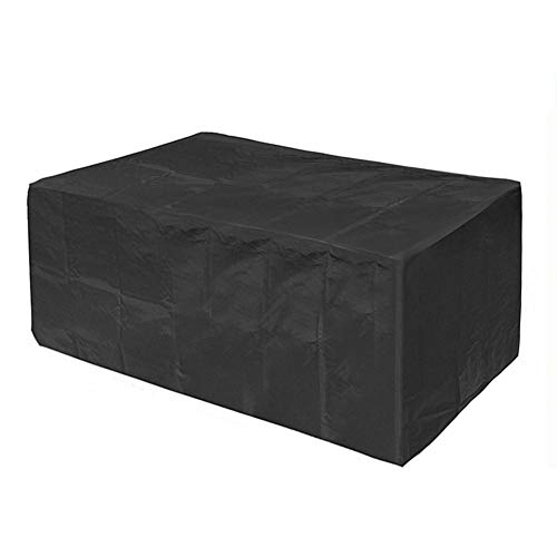 WKZWY Cube - Muebles de jardín antipolvo, impermeable, para patio, para exteriores, polvo, negro, 28 tamaños (color: negro, tamaño: 200 x 65 x 30 cm)