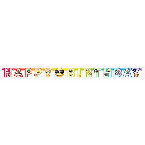 Unique Party - Cartel de Cumpleaños - 1,82 m - Diseño de Emoji Arcoíris (50948)