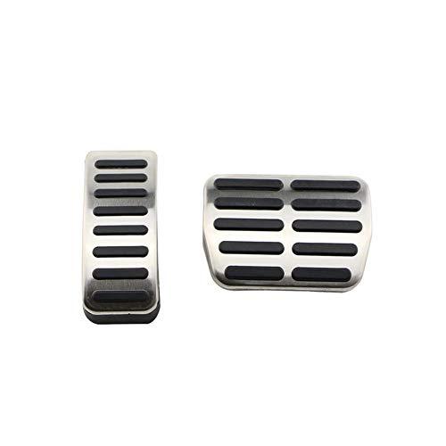 TMAAORS Cubierta del pedal del coche de las almohadillas del pedal MT AT de acero inoxidable, para VW Polo 6N 9N Jetta MK4 Bora Golf MK4 Beetle Cabrio