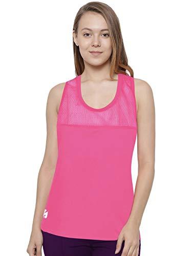 Candish N1KITA - Canottiera sportiva da donna, in rete, per fitness, corsa, corsa, corsa, ginnastica, da palestra, rosa, XL