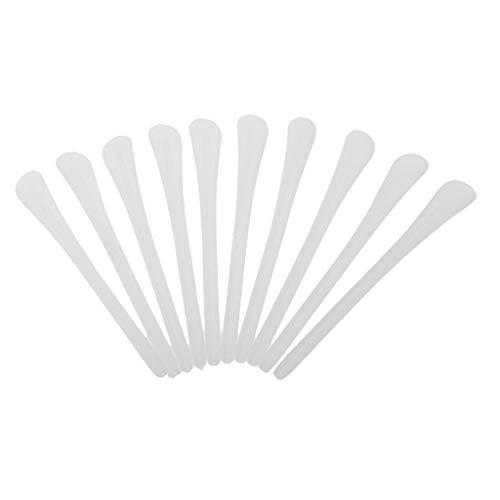 Juego de 10 almohadillas expandibles de silicona para gafas de repuesto, todos los 4 colores de herramientas de reparación, color blanco, durabilidad práctica y útil