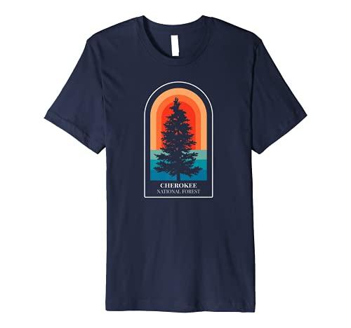 Retro Cherokee National Forest Tennessee Hiking Premium T-Shirt