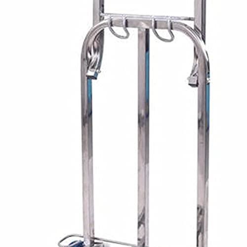 Eortzzpc Carrello a Mano Carrello per bagagli portatile dell'acciaio inossidabile dell'acciaio inossidabile per il trasporto personale del vagone pieghevole in movimento personale trasporto convenient