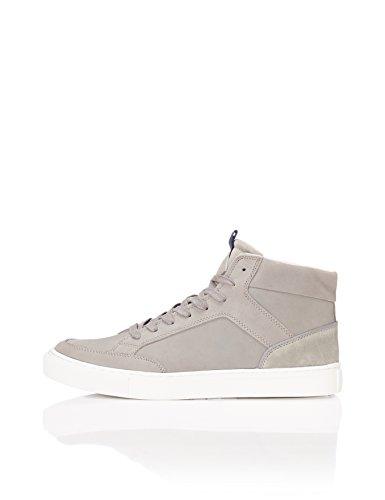find. Zapatillas Altas de Cuero estilo Basket para Hombre, Gris (Grey), 43 EU