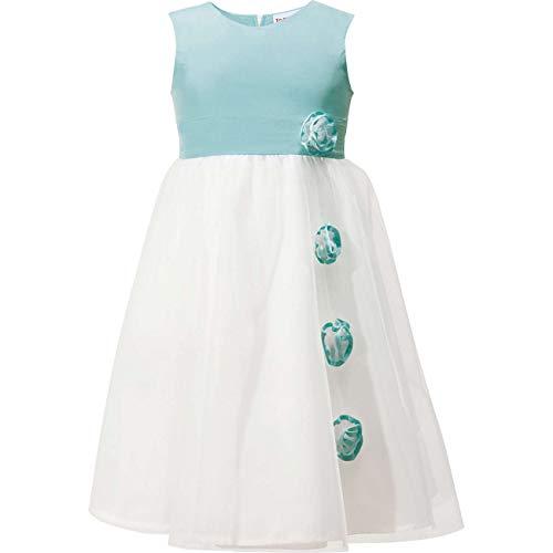 Topo festliches Mädchen Kleid mit Tüll und Stoffblüten (122)