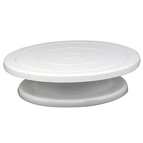 jwj Juego de utensilios para hornear F Torta giratoria para tartas y cupcakes (Color: Blanco)