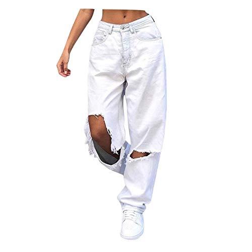 POTO Y2K Fashion Jeans for Women High Waist Wide Leg Denim Pants Multi Pocket Straight Baggy Trousers Streetwear