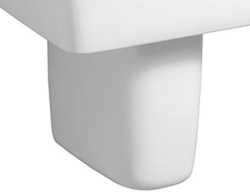 Halbsäule Keramag Renova Nr.1 plan in weiß aus Sanitärporzellan 292110
