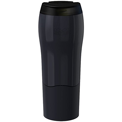Mighty Mug Becher to Go in schwarz, Silikon, 15x10x8 cm