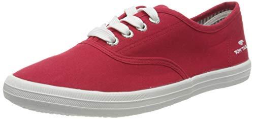 TOM TAILOR Damen 8092401 Sneaker, Rot (Red 00004), 38 EU