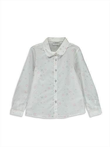 LC WAIKIKI Mädchen Popelin Hemd mit Aufdruck 11y-12y Weiß 100% Baumwolle