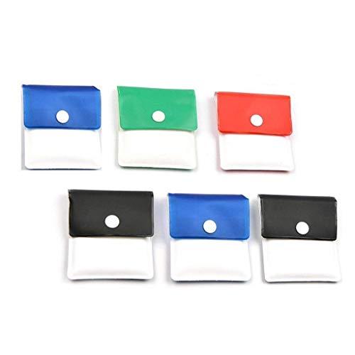 6 Pezzi Tasca posacenere Astuccio in Polvere - PVC-Odore a Prova di Fuoco-Portatile Compatto-Colori...