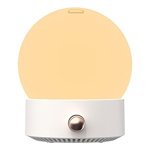 SCIDS Nuevo humidificador de Llena USB Powered 35 0ml Humidificador de difusor de aromaterapia pequeño con luz cálida de Noche (Color : White)