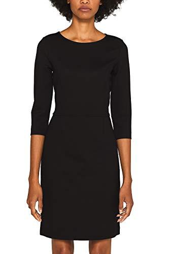 ESPRIT Damen 099EE1E002s Kleid, Schwarz (Black 001), X-Large (Herstellergröße: XL)