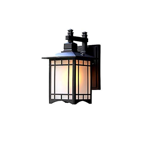 Lampade da parete Outdoor Wall Lantern Outside Light Security Black Sided Exterior Lamp