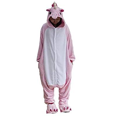 Black Sugar Mono Kigurimi Pijama Pijama Lemuriano cebra, tiburón, unicornio, adulto, adolescentes y adolescentes de peluche suave, disfraz de Carnaval Cosplay sin zapatillas azul M