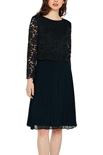 ESPRIT Collection Damen 129EO1E038 Kleid, Grün (Dark Teal Green 375), (Herstellergröße:40)