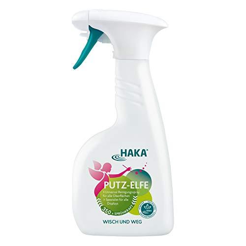 HAKA Putz-Elfe Glasreiniger I 500ml Universalreiniger zur Reinigung von Fenster, Spiegel, Smartphone, Bildschirm I Streifenfrei putzen