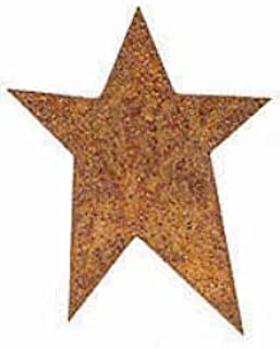 Factory Direct Craft Set of 12 Rusty Tin Primitive Star Cutouts with Flat Backs for Displaying, Crafting and Creating | 1-3/4