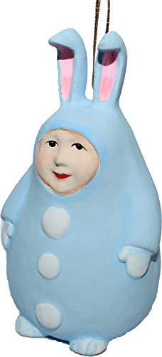Osterhase Krinkles blau Ostern Osterdeko Anhänger Osterbehang Häschen Osterhäschen Patience Brewster