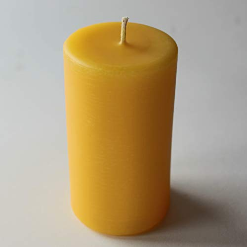 Organic beeswax small pillar candle – 20hr burning time – handmade in...