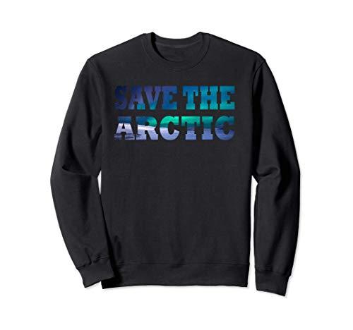 Save The Arctic - Aurora Borealis Landscape Sweatsh