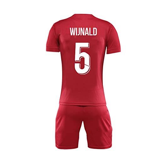 GAOZHENZHEN Georginio Wijnaldum # 5 de Cuello Redondo de la Camiseta de Manga Corta Jersey Conjunto de los Hombres de Fútbol Fan de (Color : Red, Size : XL)