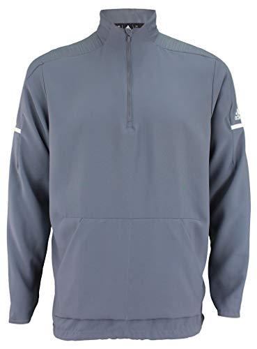adidas Team Iconic Long Sleeve Quarter-Zip Top - Men's Multi-Sport L Onix/White
