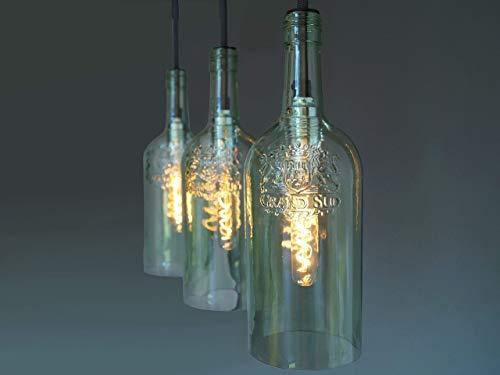 """Vintage Flaschenlampe Hängelampe """"tres"""""""