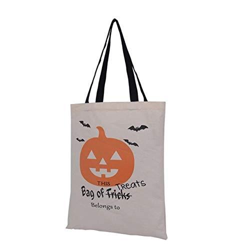 DASHUAI Bolsa De Asas De Lona Bolsas De Truco O Trato Feliz Halloween Tela De Caramelo Lona De Algodón Bolsas De Regalo para Niños