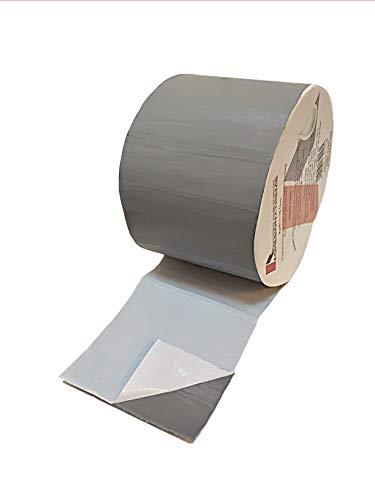 AX©*PREMIUM*10m*50mm Graues Reparaturband Klebeband Dichtung Abdichtband - Metalle, Regenrinnen, EPDM PVC Flicken wasserdicht selbstklebend wetterfest