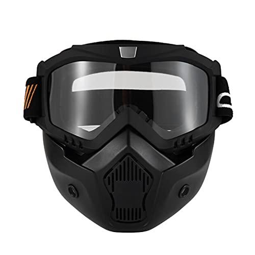 Staright Mortorcycle Abnehmbare Brille und Mund Filter für Jethelm Motocross Ski Snowboard