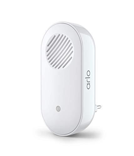 Accessoire certifie Arlo   Arlo Smart Chime 2   Alerte audio   Sirene integree   Melodie a personaliser   Connections Directe Wi-Fi   Compatible avec Arlo Sonnette video l AC2001   Interieure   Blanc
