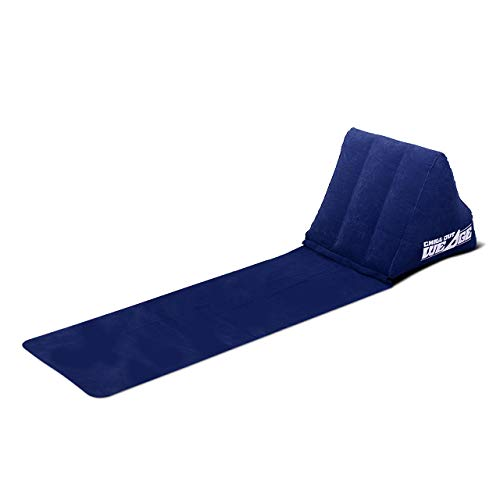CKB LTD® Chill out Portable Travel Inflatable Lounger with Wedge Shape del Asiento Amortiguador Trasero Soporte Pillow Silla de Lumbar Camping y Festivales (Navy Blue)