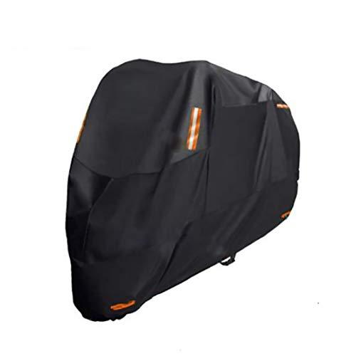 Fundas para motos Cubierta de la motocicleta compatible con cubierta de la motocicleta Yamaha Star Raider, 6 tamaños cubierta de la motocicleta resistente al agua mejorada de poliéster 300D Negro
