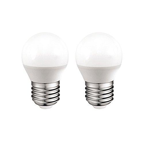 A2BC LED Lighting Bombilla LED 3000 K E27, 6 W, Blanco Cálido 3000K, 2 unidades, 2