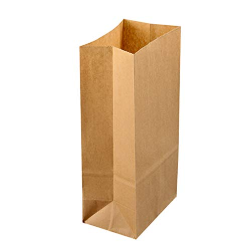TOYANDONA 50 STÜCKE Kraftpapier Lebensmittelbeutel für Geschenk Süßigkeiten Behandeln Gebackenes Brot (30 x 15,5 x 10 cm)