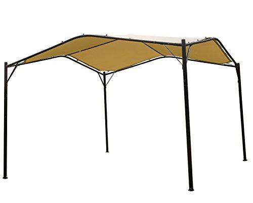Mefo garden 12 x 12 ft Outdoor Patio Swan Gazebo Canopy for Backyard, Iron, 250gsm Polyester Canopy,...