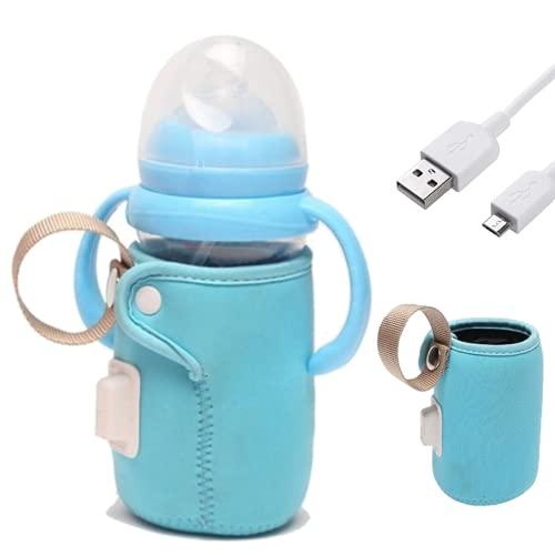 Calienta biberones portatil kit completo - Calentador de biberones + Cable USB - Termo biberón para bebes de uso en el coche o en viajes