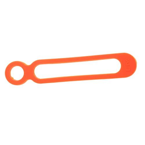 Baoblaze Support de Bouteille en Silicone Élastique pour Vélo Bande Lampe de Poche Extérieur - Orange, 10.8x2cm