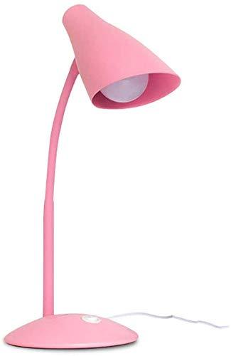 Lámpara de la lámpara, la lámpara del ojo LED recargable enchufable regulador de cabecera luz del escritorio estudiante de la lámpara caliente del niño de energía para leer, lámpara,Pink