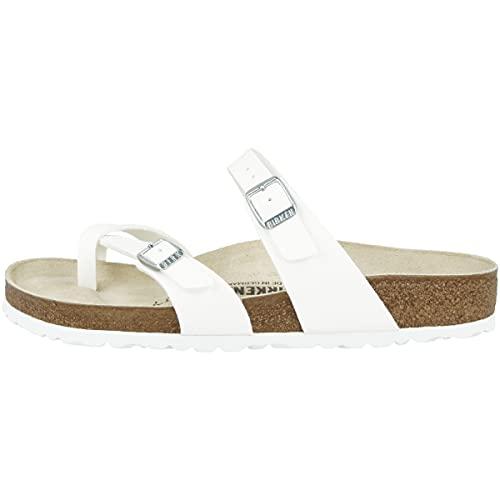 Mayari White Birko-Flor Thong Flip Flops Women