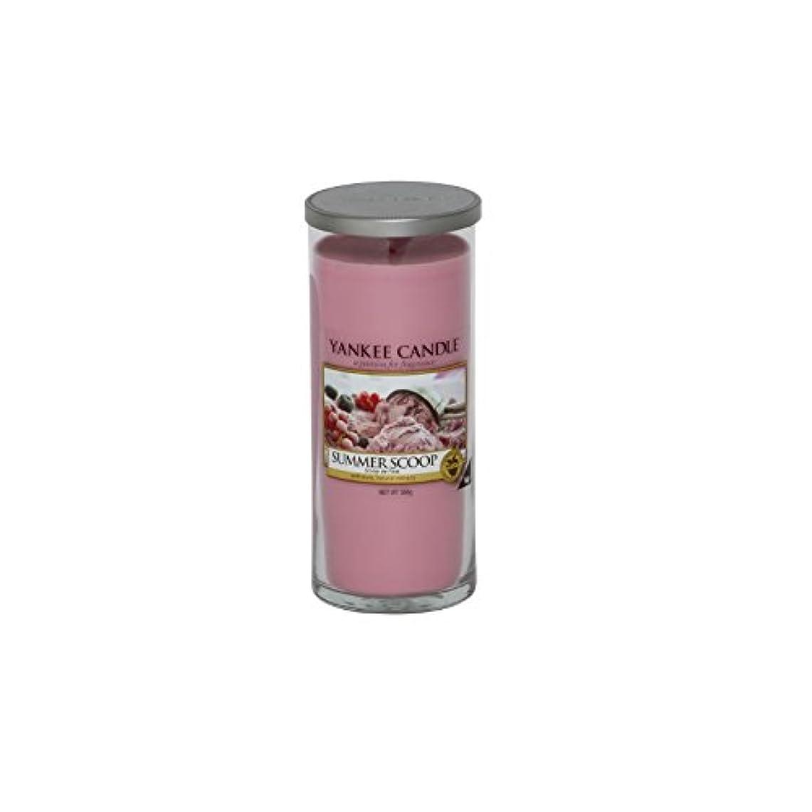 バケツ欠伸マラウイYankee Candles Large Pillar Candle - Summer Scoop (Pack of 2) - ヤンキーキャンドル大きな柱キャンドル - 夏のスクープ (x2) [並行輸入品]