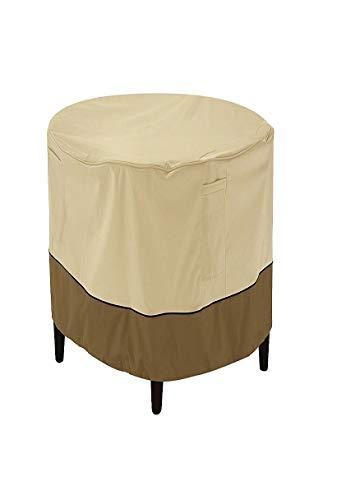 Classic Accessories Veranda Water-Resistant 24 Inch Round Patio Ottoman/Coffee Table Cover