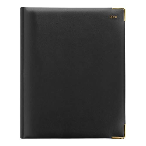 Letts 2020 Classic Week to View Appointment Book with Gold Corners, Black, 10.25 x 8.25 inches (C32YIBK-20)