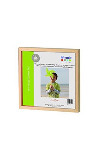 Artemio VICAPP3131P Cadre Photo Vitrine en Bois-Format Scrap, 31cm, Beige, 32 x 3 x 32 cm