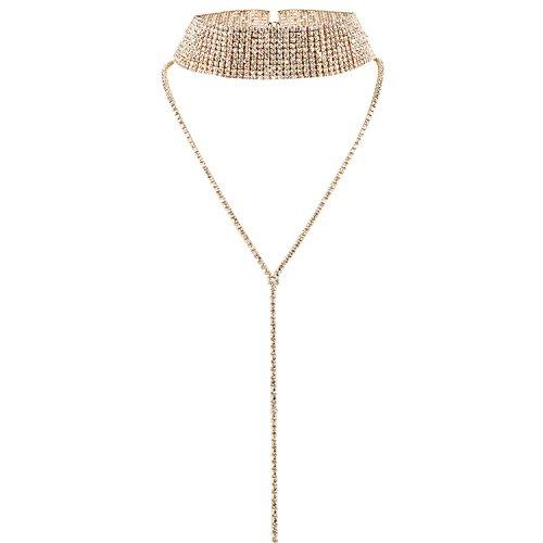 Petalum Damen Freundin Modeschmuck Legierung Halskette Silber Gold Choker Mehrreihig Halsband Multilayer Jewelry Nacklace Party Geschenk