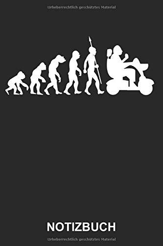 Notizbuch: Altwerden Elektrischer Rollstuhl Alte Menschen Behindert Körperliche Beeinträchtigungen Evolution | Lustiges Niedliches Tagebuch, ... mit Linien | 120 Seiten liniert | Softcover