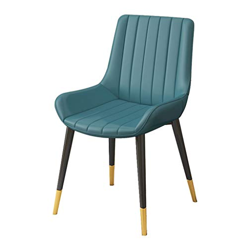 OUG-Dining chair Side Chairs, Simple Kitchen Chairs, Leather Side Chairs, Ergonomic Backrests, Used in Bars and Coffee Shops, (Multiple Color Choices)